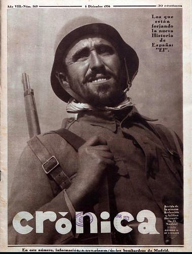Revista «Crónica», diciembre de 1937, foto: Agustí Centelles i Ossó. by Octavi Centelles