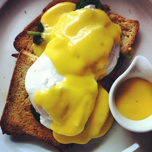 My #EggsFlorentine for #brunch at #fennsquay. Love #Cork #eggs. #EatLocal