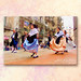 Traditional Catalan dance, Barcelona. Barrio de la Ribera. Today.