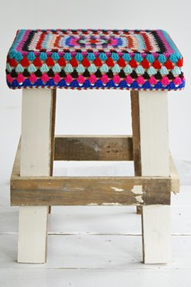 wood & wool stool petra