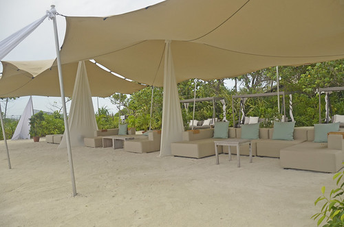 Sofas under canopy