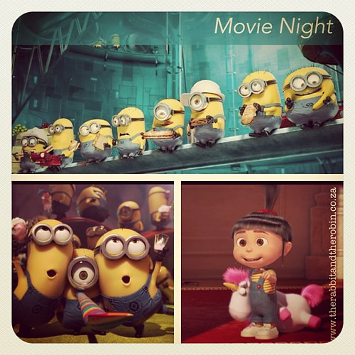 Movie Night Despicable Me 2 Ba ba ba, ba ba Banana <3 #banana - Preview on the Blog www.therabbitandtherobin.co.ca {follow me @robindeel on Instagram} Official @rabbitandrobin  #despicableme2 #minions #movie #film #movienight #sk #sterkinekor #itssofluffy