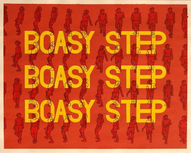 Boasy Step, Acrylic & Ink on Paper, 50 cm x 40cm