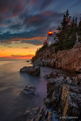 longexposure sunset usa lighthouse me landscape landscapes maine newengland bluehour nationalparks acadia tremont bassharbor mountdesertisland bassharborheadlight acadianationalpark usnationalparks bassharborheadlighthouse filipinophotographer newenglandlighthouse newenglandlighthouses d800e
