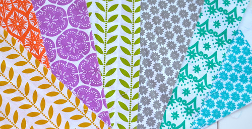 Hand printed fabrics from Leanne Fanny