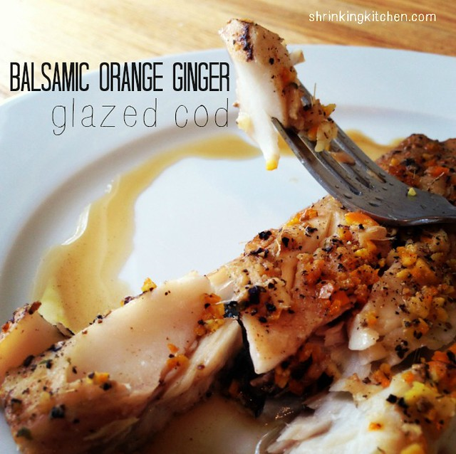 balsamic orange ginger glazed cod