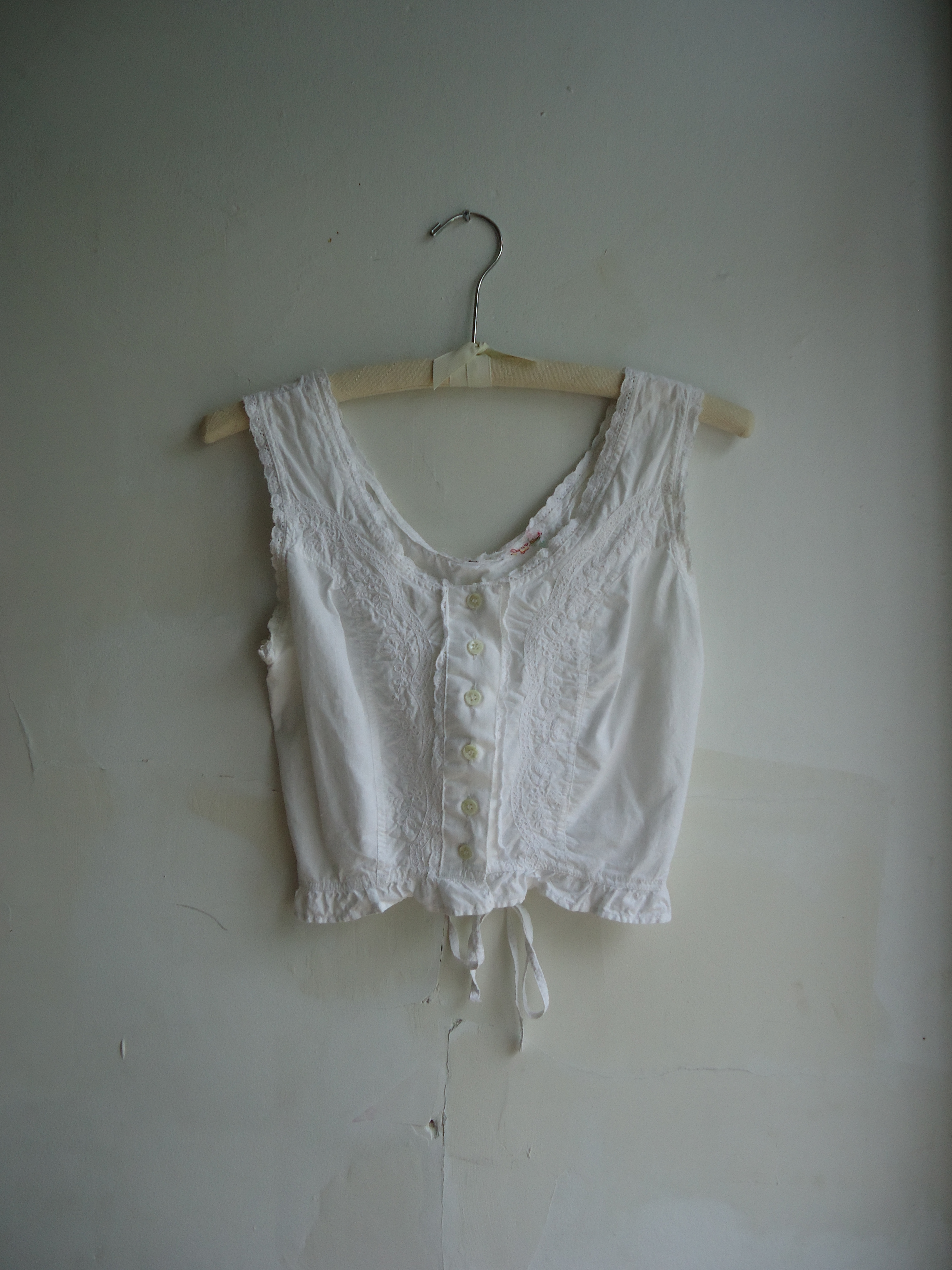 Irene & Irene Vintage Edwardian Lace Crop Top