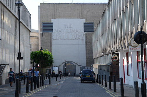 National Gallery rear entrance from Leicester Square