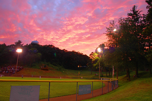 red sky at night, viroqua legion baseball delight.