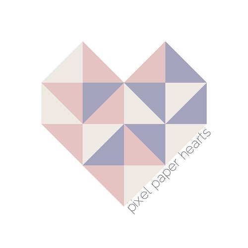 pixel paper hearts