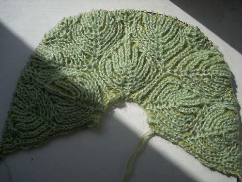 Brioche shawl in progress by Asplund