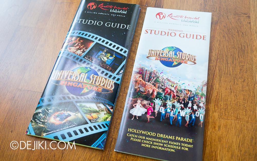 Universal Studios Singapore - New Park Map