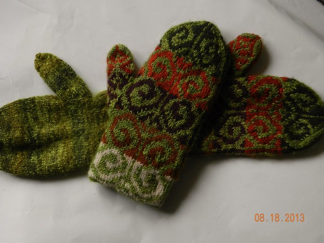Finished Fiddleheads with lining