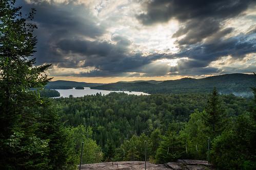 sunset lake forest landscape lac paysage forêt coucherdesoleil