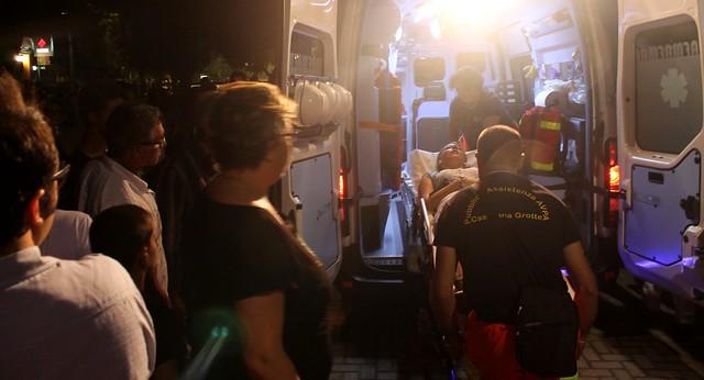 Cristina Chiantera trasportata in ambulanza
