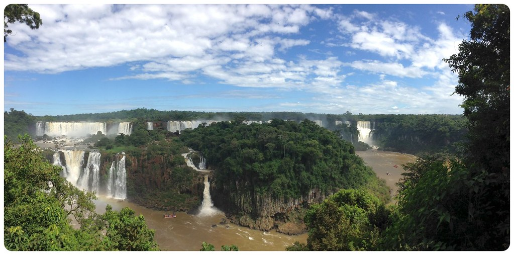 Iguazu Falls with jungle