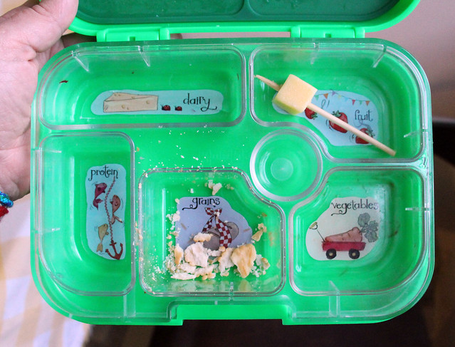 Big Kid Red and White Yumbox Bento #783: after
