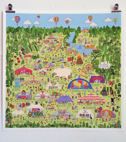 SHAMBALA MAP print