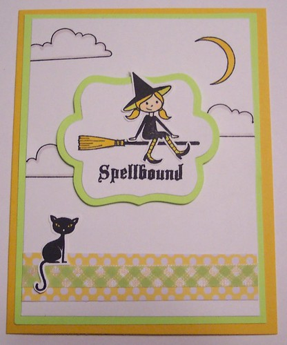 witch on broom card