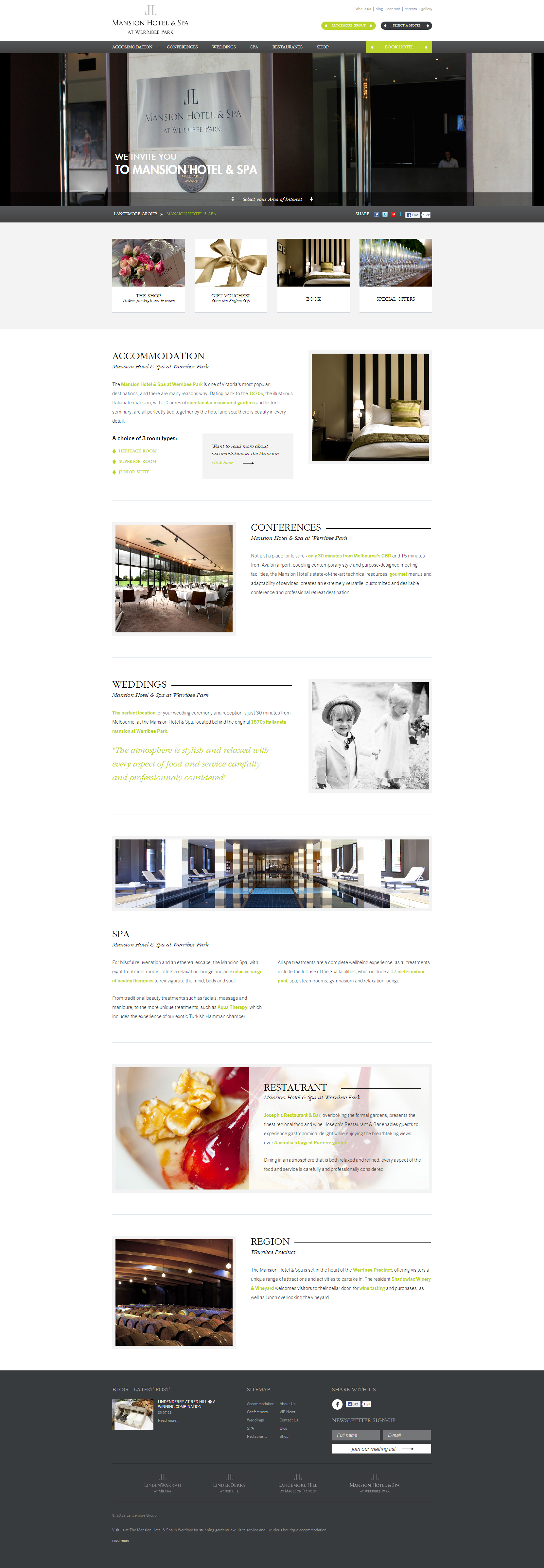 Website Inspiration - Mansion Hotel