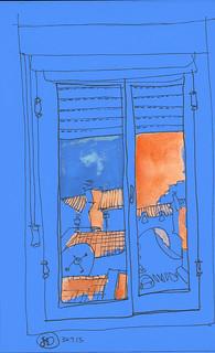 Paisaje en azul, desde mi ventana