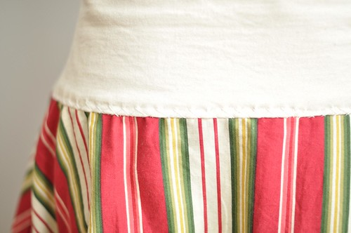 stripey skirt