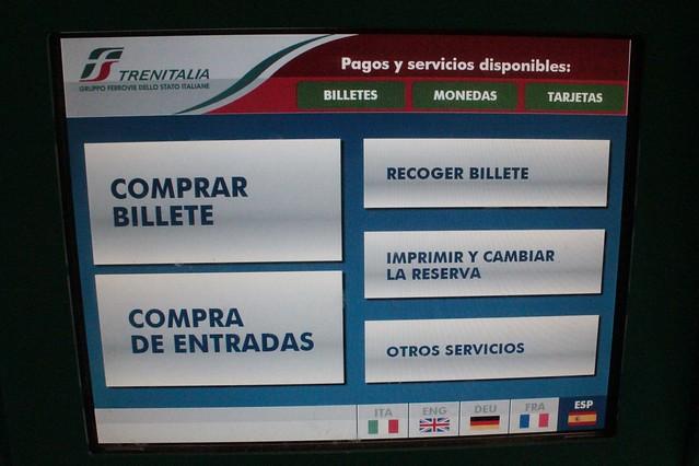 Como comprar bilhetes de trem na Itália nas máquinas das estações