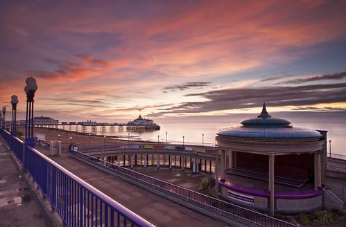 sea england sunrise sussex pier east eastbourne seafront bandstand