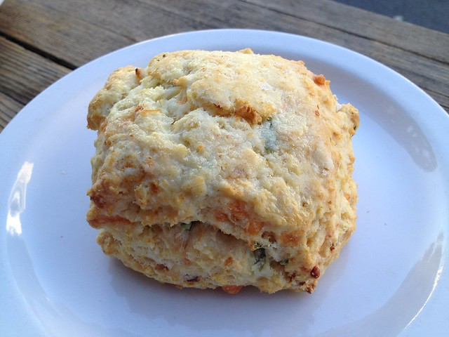 Bacon cheddar scone - Four Barrel Coffee