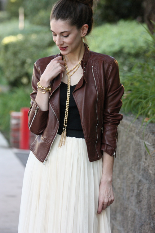 Leather+Tulle