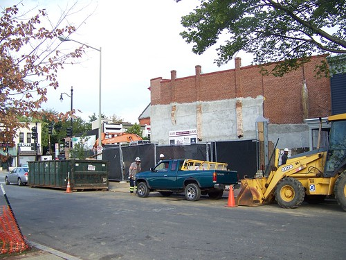 Side view on 10th Street NE, demolition of 1001 H Street NE