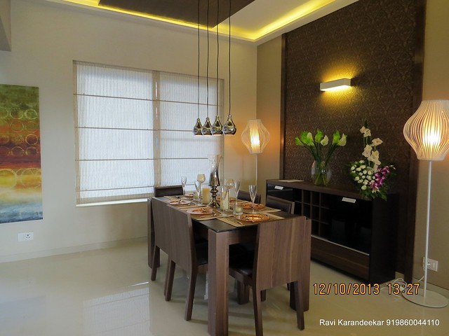 "Dining 11' x 10' 6"" - Did you visit the 4 BHK show flat of Metro Jazz, opposite VITS Hotel,  Mhalunge - Baner Annex?"
