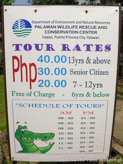 Crocodiles Farm Rates and Schedules