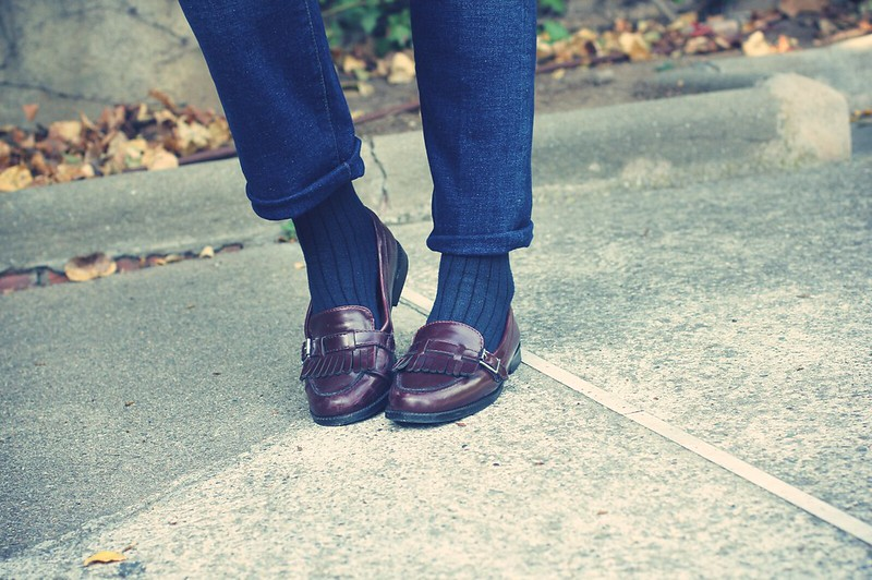 Look: british loafers - Monicositas