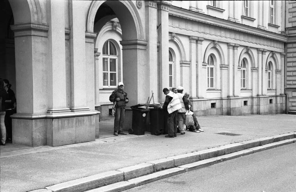Kiev 4 - New Scan - Street Sweepers in front of Old Hospital 1
