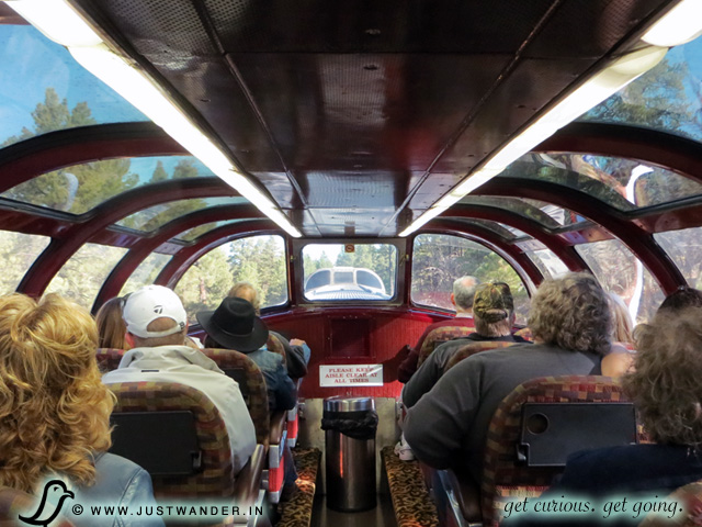 PIC: Observation Dome seats on the Grand Canyon Railway