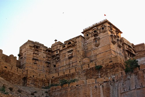 Jaisalmer's fort. Over 5000 people still live and work here.