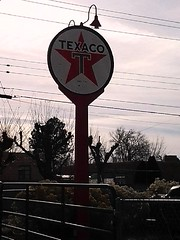 TEXACO banjo sign