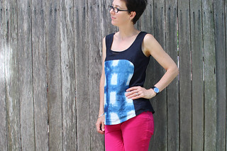 Shibori Polly top front
