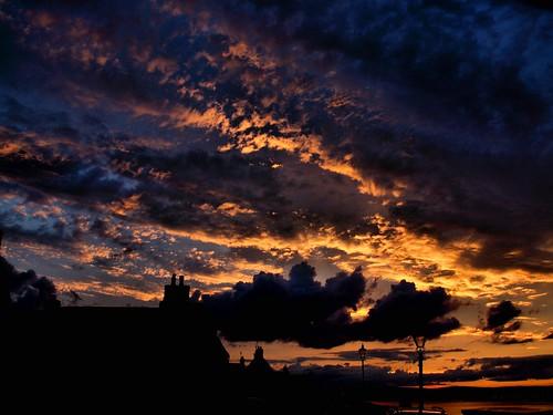 light sunset clouds scotland highlands cromarty gloaming