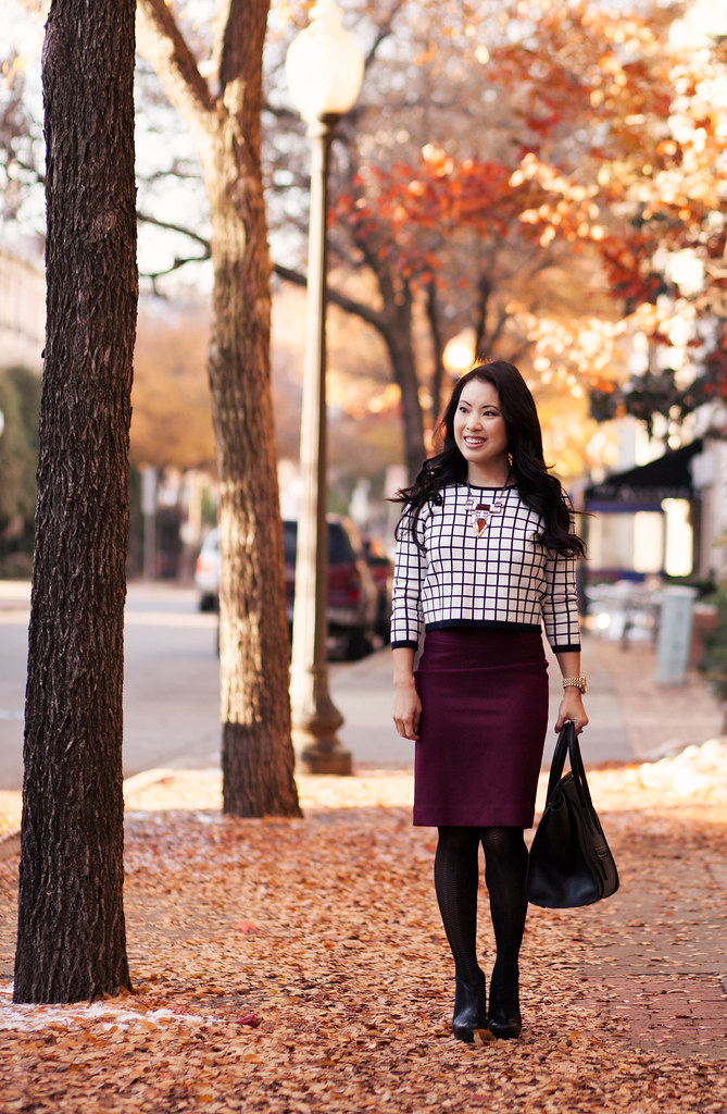 Windowpane Print   Burgundy - cute & little | Dallas Petite ...