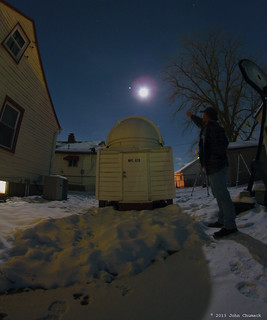 The Moon & Jupiter & Chumack Observatory