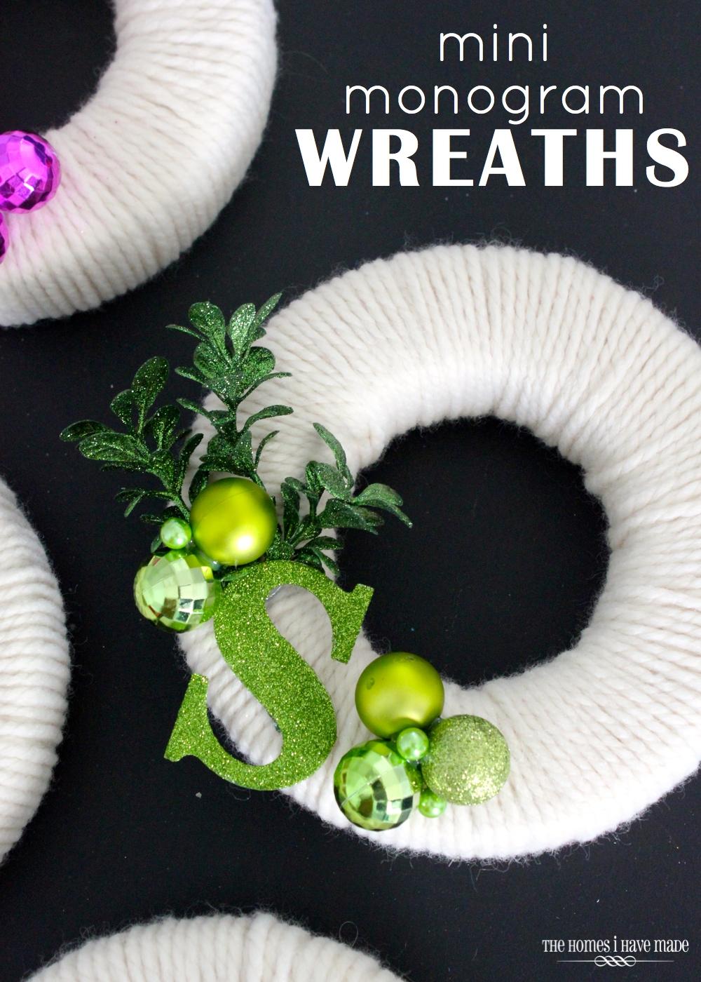 Mini Monogram Wreaths | The Homes I Have Made