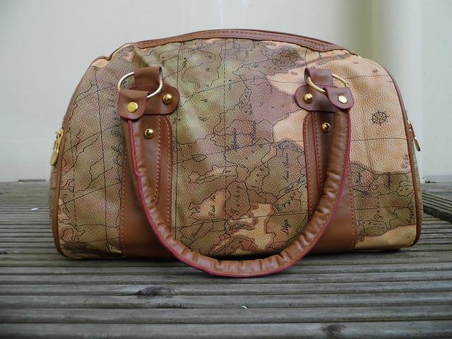 Chloe Map Atlas Print Handbag