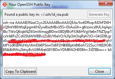 ssh generate key