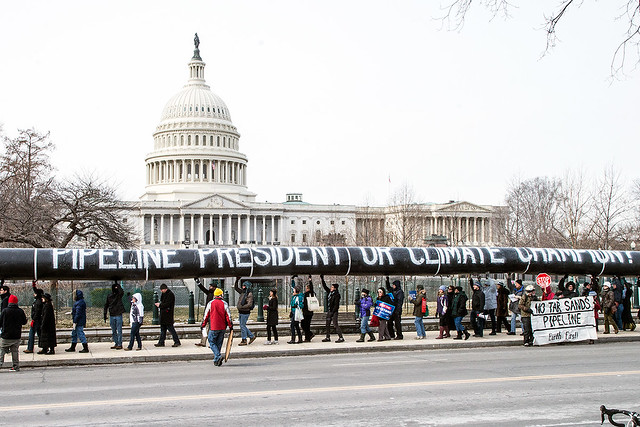 Pipeline protest in front of White House