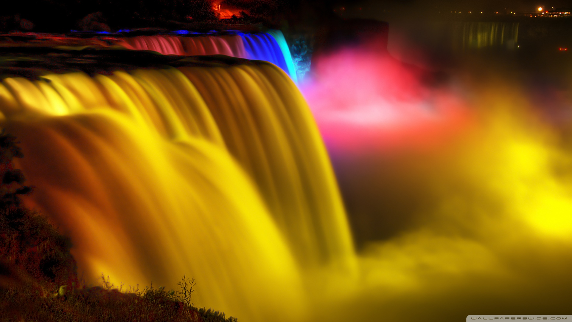 Niagara Falls Night-view - Most Beautiful Waterfall Wallpapers for Desktop Background
