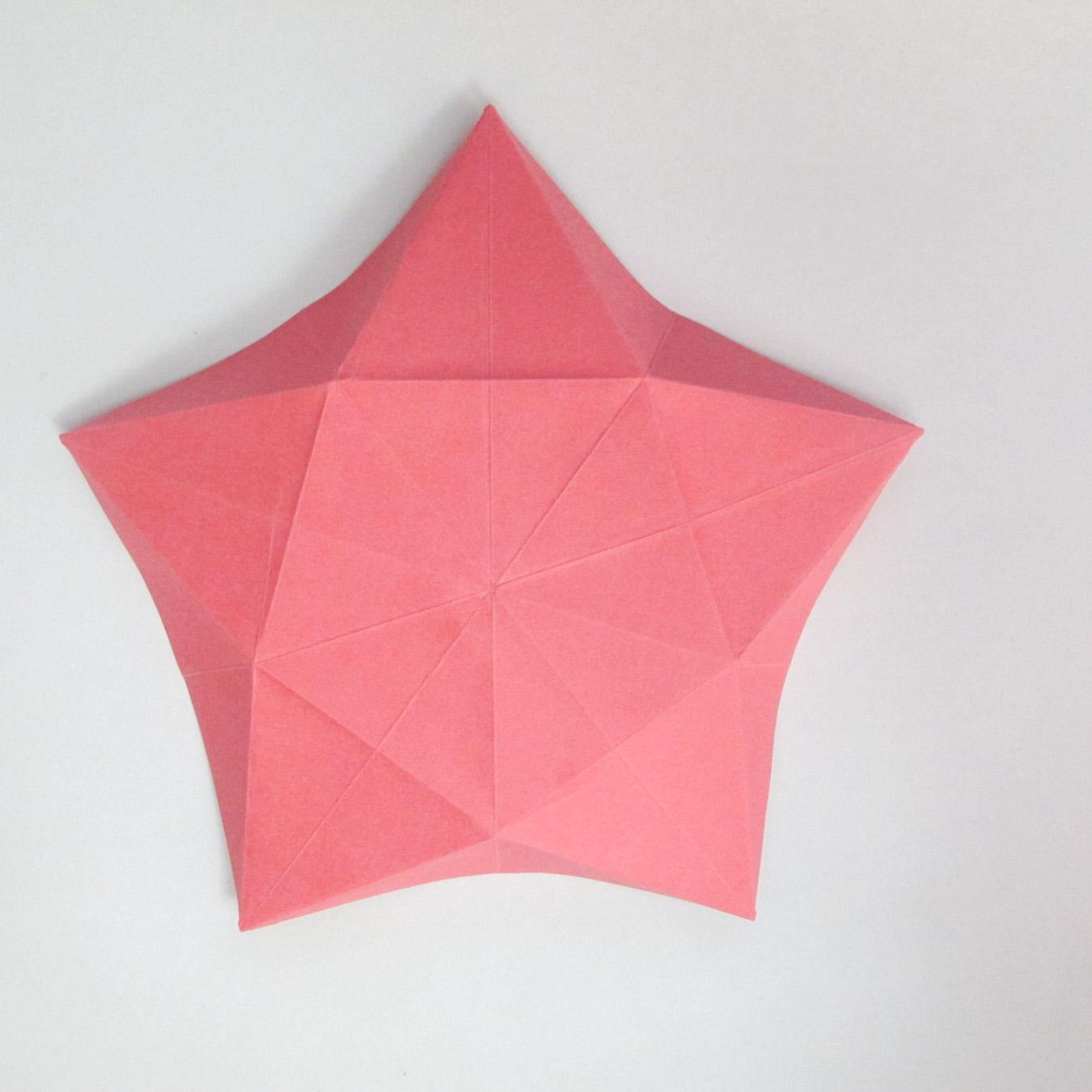 สอนวิธีการพับกระดาษเป็นดอกมะเฟือง (Origami Carambola) 013