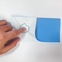 วิธีการตัดกระดาษเป็นห้าเหลี่ยมจากกระดาษสี่เหลี่ยมจตุรัส 011