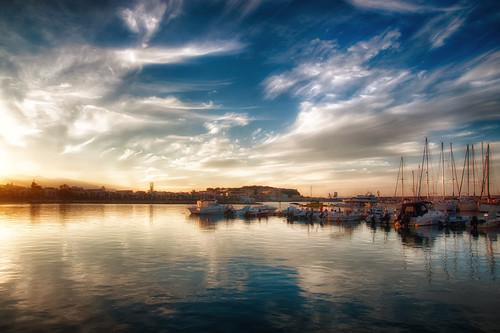 sunset sea sky reflection clouds marina boats crete rethymno κρήτη σύννεφα θάλασσα δύση αντανάκλαση ρέθυμνο ουρανόσ βάρκεσ μαρίνα